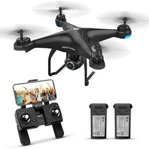 Holy Stone ドローン GPS搭載 カメラ付き 200g以下 最大飛行時間32分 バッテリー2個付き 1080P 広角HDカメラ フォローミ|ea-s-t-store