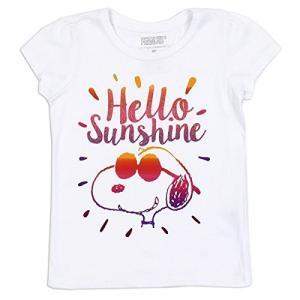 スヌーピー ピーナッツ Snoopy Peanuts Tシャツ 半袖 子供用 白 [並行輸入品] ea-s-t-store