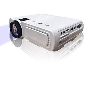 山善 キュリオム プロジェクター 3900ルーメン 32-120インチ フルHD対応 ホワイト YLP-80HD(W)|ea-s-t-store