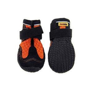 犬用靴 Mud Monsters (マッドモンスターズ) 2個入り [並行輸入品] (9 / L-XL (横:9.0cm、縦:11.5cm), オレンジ)|ea-s-t-store