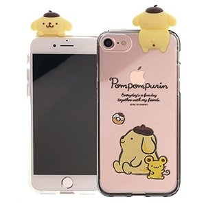 iPhone SE / 5S / 5 専用 かわいい、精巧な ポムポムプリン フィギュアがゼリーケー...