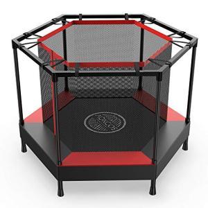 AOKCOSトランポリン 屋内用 ネット付き 子供用 静音 防音 幅直径122cm 6本脚 トレーニング 運動力アップ フィット ea-s-t-store