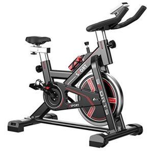 Kaniya フィットネスバイク スピンバイク エアロバイク 静音設計 心拍数測定 無段階負荷 調節トレーニング 運動 ea-s-t-store