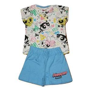 6616 パワーパフガールズ Powerpuff Girls Tシャツ パジャマ 上下セット 子供用 [並行輸入品] ea-s-t-store