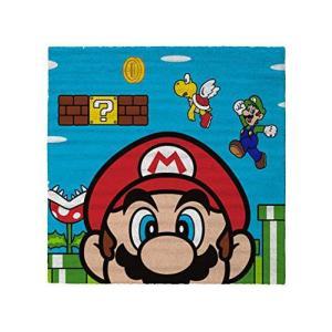 4573 スーパーマリオ Super Mario ラグ マット Super Mario Rug 80cm x 80cm [並行輸入品] ea-s-t-store