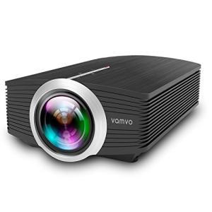 Vamvoプロジェクター 高画質1800ルーメン 1080P 130インチ ホームシアター パソコン/スマホ/タブレット/ゲーム機な|ea-s-t-store