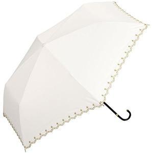 3〜5日で発送ワールドパーティー(Wpc.) 日傘 折りたたみ傘 オフホワイト 白 50cm レディース 傘袋付き 遮光星柄スカラップ ミニ 801-|eagle8532