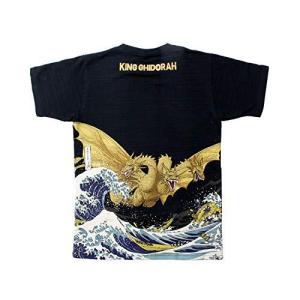 3〜5日で発送フォーカート 抜染Tシャツ ブラック XL(身丈71×身巾54cm) 富嶽 キンク゛キ゛ト゛ラ|eagle8532