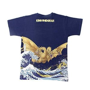 3〜5日で発送フォーカート 抜染Tシャツ ネイビー XL(身丈71×身巾54cm) 富嶽 キンク゛キ゛ト゛ラ|eagle8532