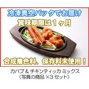 冷凍真空パック インドカレー カバブ&チキンティッカ ミックス(写真の商品x3セット)|eagleeyeshopping
