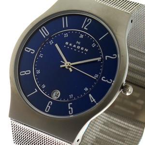 10000円以上送料無料 スカーゲン SKAGEN ウルトラスリム チタン クオーツ 腕時計 233XLTTN ブルー 【腕時計 海外インポート品】 レビュー投稿で次回使える2000|eagleeyeshopping