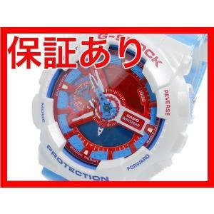 レビューで次回2000円オフ 直送 カシオ CASIO Gショック G-SHOCK ブルー&レッドシリーズ クオーツ デジタル メンズ 腕時計 GA-110AC-7 【腕時計 海外インポー