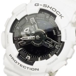 レビューで次回2000円オフ 直送 カシオ CASIO Gショック ホワイト&ブラック アナデジ メンズ 腕時計 GA-110GW-7 【腕時計 海外インポート品】