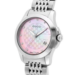 10000円以上送料無料 グッチ GUCCI Gタイムレス クオーツ レディース 腕時計 YA126534 ピンクパール 【腕時計 ハイブランド】 レビュー投稿で次回使える2000円|eagleeyeshopping