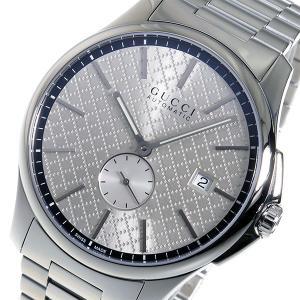 10000円以上送料無料 グッチ GUCCI Gタイムレス 自動巻き メンズ 腕時計 YA126320 シルバー 【腕時計 ハイブランド】 レビュー投稿で次回使える2000円クーポン|eagleeyeshopping