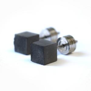 10000円以上送料無料 22designstudio Cube Earring (Dark Grey) イヤリング CE04001 【アクセサリー ピアス】 レビュー投稿で次回使える2000円クーポン全員にプ|eagleeyeshopping