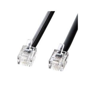 サンワサプライ モジュラーケーブル 10m ブラック TEL-N1-10BKN2|eagleeyeshopping