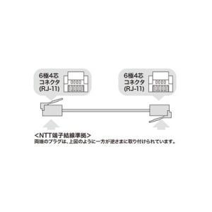 サンワサプライ モジュラーケーブル 10m ブラック TEL-N1-10BKN2|eagleeyeshopping|02