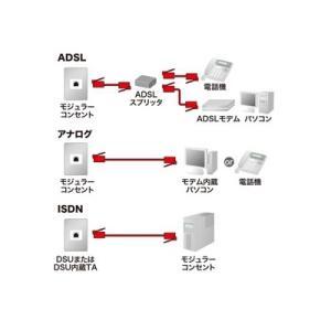 サンワサプライ モジュラーケーブル 10m ブラック TEL-N1-10BKN2|eagleeyeshopping|03