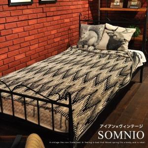 シングルベッド フレーム / シングルベッド MOMNIO アイアン  ■サイズ(cm) 幅215c...