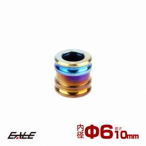 64チタン製 中空スペーサー 外径10mm 内径6mm 長さ10mm ボルトカラー 焼きチタンカラー JA088|eale
