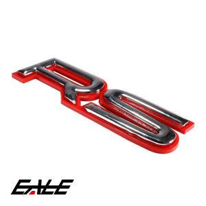 エンブレム 赤枠タイプのレーシーな RS 汎用 カスタム M-33|eale