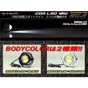 10W COB-LED 汎用型スポットライト IP65 ストロボ機能付き P-303P-304|eale