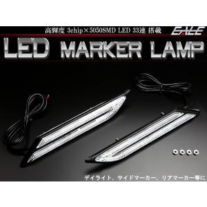 BMW風 汎用 LED マーカーランプ デイライト サイドマ...
