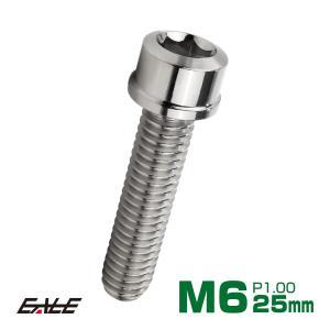 SUS304 キャップボルト M6×25mm P1.0 六角穴付きボルト スリムヘッド シルバー ス...