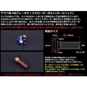 ブレーキ ディスクローター ボルト ヤマハ用 ...の詳細画像1