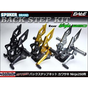 SPYKER 13年以降 Ninja250(EX250L&M) Z250(ER250C&D) ABS可 バックステップ 4ポジション選択可能 3色 TM5003|eale