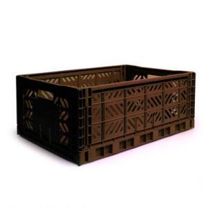 エーワイ・カーサ Ay・kasa マルチウェイ マキシボックス コーヒー コンテナボックス 折りたたみ 収納ボックス おしゃれ かっこいい 収納ケース|eameschair-y