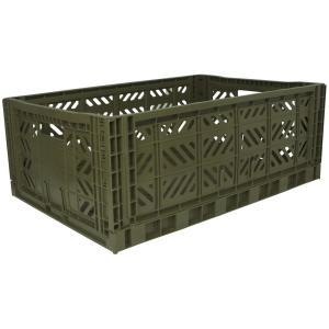 エーワイ・カーサ Ay・kasa マルチウェイ マキシボックス カーキ コンテナボックス 折りたたみ 収納ボックス おしゃれ かっこいい 収納ケース|eameschair-y