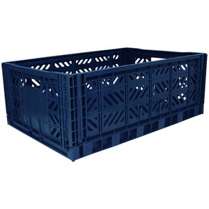 エーワイ・カーサ Ay・kasa マルチウェイ マキシボックス ネイビー コンテナボックス 折りたたみ 収納ボックス おしゃれ かっこいい 収納ケース|eameschair-y