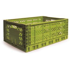 エーワイ・カーサ Ay・kasa マルチウェイ マキシボックス オリーブ コンテナボックス 折りたたみ 収納ボックス おしゃれ かっこいい 収納ケース|eameschair-y