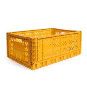 エーワイ・カーサ Ay・kasa マルチウェイ マキシボックス イエロー コンテナボックス 折りたたみ 収納ボックス おしゃれ かっこいい 収納ケース|eameschair-y