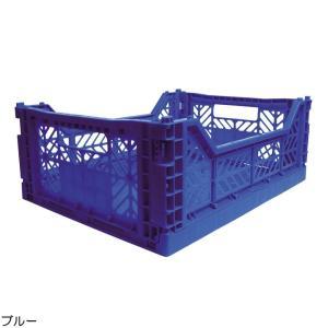 エーワイ・カーサ Ay・kasa マルチウェイ ミディボックス ブルー コンテナボックス 折りたたみ 収納ボックス おしゃれ かっこいい 収納ケース|eameschair-y