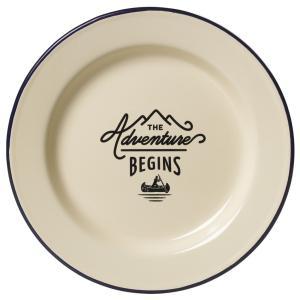 ジェントルメンズハードウェア エナメルプレート Enamel Plate 琺瑯 ホーロー プレート 皿 アイボリー キャンプ 食器 アウトドア eameschair-y