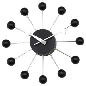 ジョージ・ネルソン ボールクロック ブラック 正規ライセンス版 掛け時計|eameschair-y