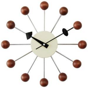ジョージネルソン ボールクロック ウォールナット ウォルナット  掛け時計 正規ライセンス品
