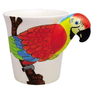 アニマルマグ レッドマカウ ミーラープセラミック マグカップ マグ 285ml おしゃれ かわいい 鳥 インコ とり トリ コップ|eameschair-y