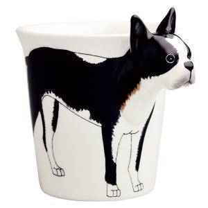 アニマルマグ ボストンテリア ミーラープセラミック マグカップ マグ 285ml おしゃれ かわいい コップ イヌ 犬 いぬ|eameschair-y