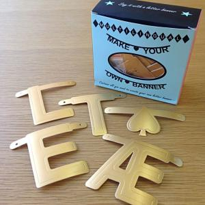 OMM-design ガーランド アルファベット ワードバナー ゴールド 北欧雑貨 誕生日 飾り付け おしゃれ|eameschair-y