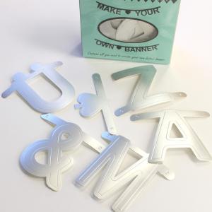 OMMデザイン ガーランド アルファベット ワードバナー シルバー 北欧雑貨 誕生日 飾り付け おしゃれ OMM-design|eameschair-y