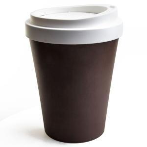 クオリー QUALY コーヒービン COFFEE BIN フタ付きゴミ箱 フロアー用 ブラウン おしゃれ ゴミ箱 ふた付き かわいい ごみ箱 蓋つき|eameschair-y