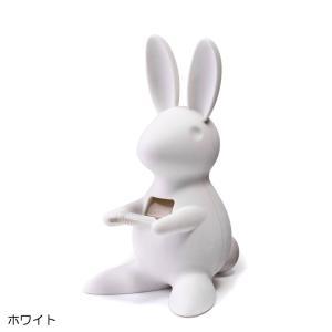 QUALY テープディスペンサー テープカッター ホワイト うさぎ ウサギ クオリー おしゃれ かわいい 文具 文房具 雑貨|eameschair-y