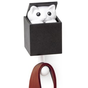 QUALY クオリー キット ア ブー ウォールフック Kitt-a-boo Wall Hook 壁掛けフック 壁掛けハンガー ブラックボックス|eameschair-y