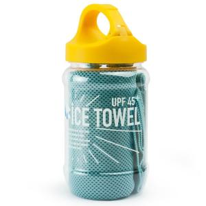 スペースジョイ SPACE JOY ICE TOWEL アイスタオル 冷感タオル カラビナ付ボトル スカイブルー eameschair-y
