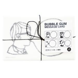たつみなつこ Tatsumi Natsuko バブルガム メッセージカード Aセット 20枚セット マンゴーアートカンパニー 名刺サイズ おしゃれ かわいい|eameschair-y