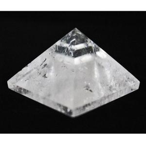 天然水晶ピラミッドL ファントム入り 研磨水晶 鉱物 クラス...